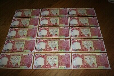 375,000 IQD - (15x) 25,000 IRAQI DINAR NOTES - AUTHENTIC UNCIRC - FAST DELIVERY