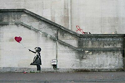 There Is Always Hope, Balloon Girl 36x24 Giclee Art Print Poster by Banksy