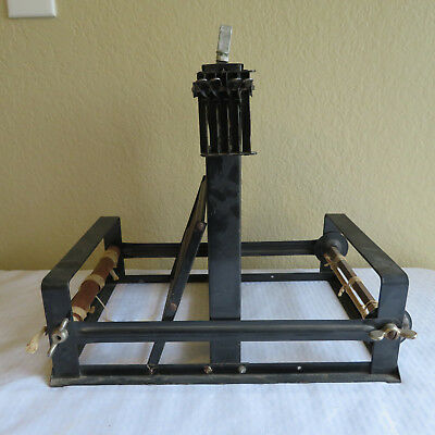 StructoArtcraft Loom Weaving Black Iron Metal Four Harnesses Tabletop Handle