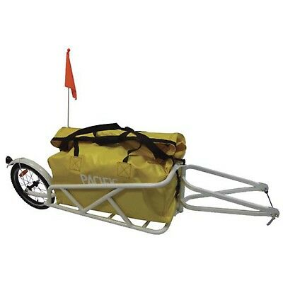 Pacific Single Wheel Bike Trailer for Touring Luggage Camping Storage PTT