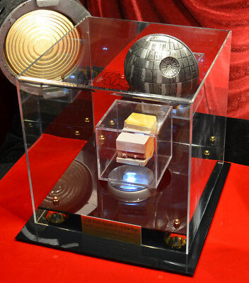DEATH STAR Screen-Used Prop - STAR WARS IV, COA London Prop Store, DVD, Lit CASE