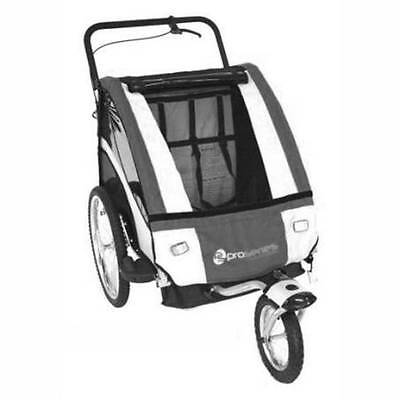 Pro Series 2 Child  Bike Trailer Jogger for Towing Behind Bicycle BLUE ONLY