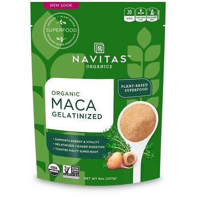 NAVITAS NATURALS ORGANIC MACA GELATINIZED KOSHER SUPERFOOD 113g to 455g SIZES