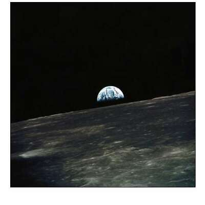 Wall-Art-PRINT-Earth-seen-From-The-Moon-Poster-or-Canvas-Fine-Art-Space