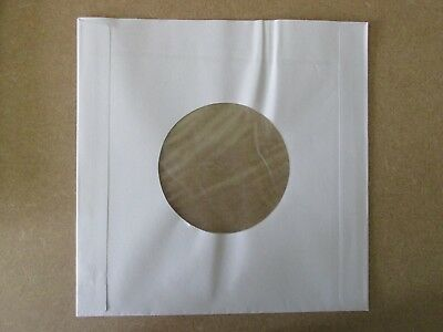 """Vinyl Record 7"""" White Poly-Lined Anti-Static Sleeves -Flawed Seconds- (100)"""