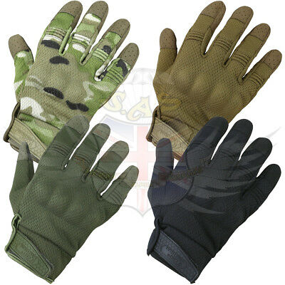 Kombat Uk Recon Tactical Gloves Elasticated Wrist Green,black,coyote,btp Camo