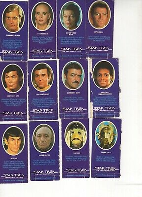 Star Trek - The Motion Picture 1979. Original cards from the Sci-fi origin