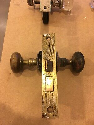 antique vintage door lock with brass knob. Price for 1 lock