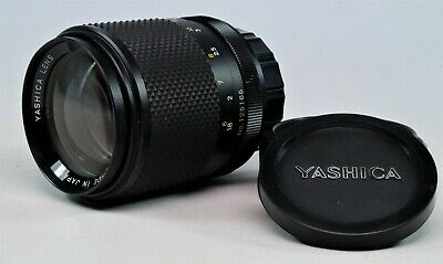 Vintage Yashica 135mm f2.8 DSB Telephoto lens, GWO In case With Hood.