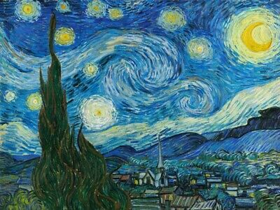 Wall-Art-PRINT-Van-Gogh--Vincent-The-Starry-Night-Poster-or-Canvas-Fine-Art