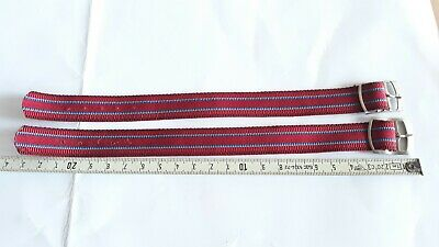 Vintage Original NOS Lot NATO STRAP military Red USSR made 16mm. Check it