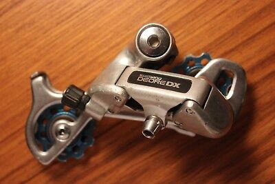 VINTAGE SHIMANO DEORE DX RD-M650 Mountain Bike Rear Derailleur 8 Speed Long  Cage