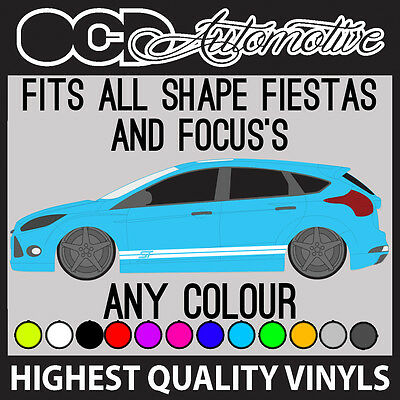 27d114f0595d0 Ford Fiesta   Focus Mondeo st Lateral Correa Gráficos Calcamonías Kit Rs st  Tdci