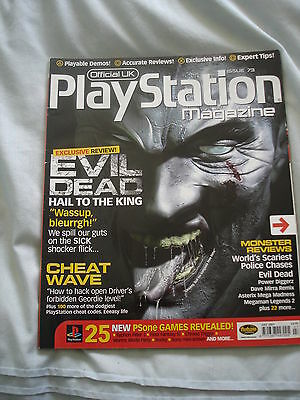 Official UK Playstation magazine with disc  issue # 73 - Evil Dead