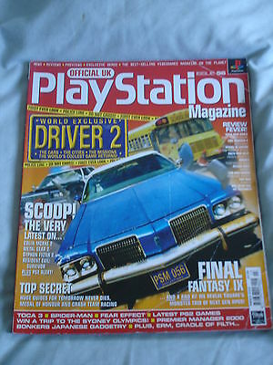 Official UK Playstation magazine with disc  issue # 56 - Driver 2