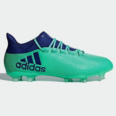 reputable site 11ab4 e0dd3 ADIDAS X 17.2 FG Firm Ground Football Boots Mens Green/Ink Soccer Shoes  Cleats
