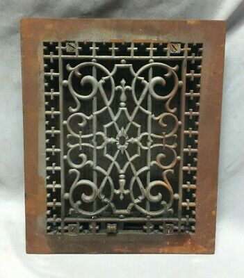 Antique Cast Iron Decorative Heat Grate Floor Register 8X10 Vintage 172-19C