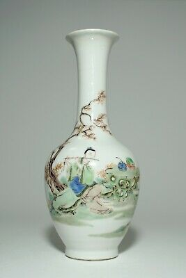 A Finley Painted Famille Verte Vase