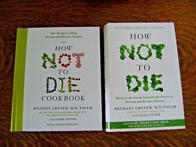 How Not To Die Book & Cookbook Set Hard Cover Physical Books ~ NEW, SET/2