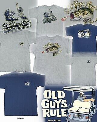 ef06eab9 3 Old Guys Rule Fishing Golf Baseball Themed T-Shirts Size M You Get All
