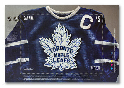 2017 Canada stamps - Toronto Maple Leafs: Crest , Souvenir Sheet - MNH