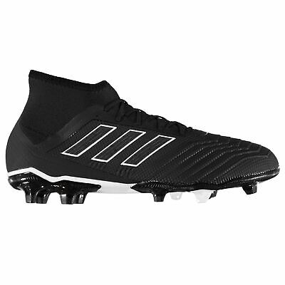 5950a15873d adidas Predator 18.2 FG Firm Ground Football Boots Mens Black Soccer Shoe  Cleats
