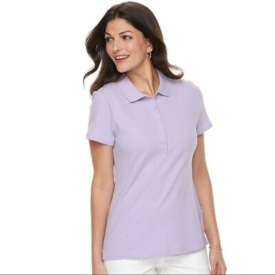 d9075954b0b73 CROFT AND BARROW Classic Polo Red Small 6-8 Ladies Soft Comfortable ...