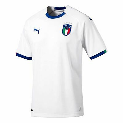 Puma Italy Away Jersey 2018 Mens White Blue Football Soccer Fan Shirt Top 161b2e3b4