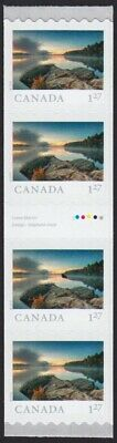 GUTTER strip of 4 = ALGONQUIN Park = FROM FAR AND WIDE = Coil MNH-VF Canada 2019