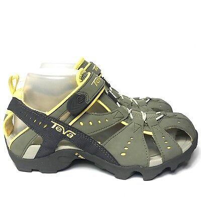 00c758bfe4a84 TEVA Womens Hiking Closed Toe Sandals Gray Yellow Sport Shoes Size 7.5  Great!