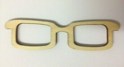 CLEARANCE 5 Natural Wooden Glasses Card Making Scrapbook Craft Embellishments