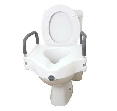 "5"" Elevated Toilet Seat With Removable Arms"
