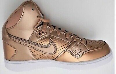 ba725c61c44f4 NIKE WOMENS SON of Force Copper Rose Gold Size 7