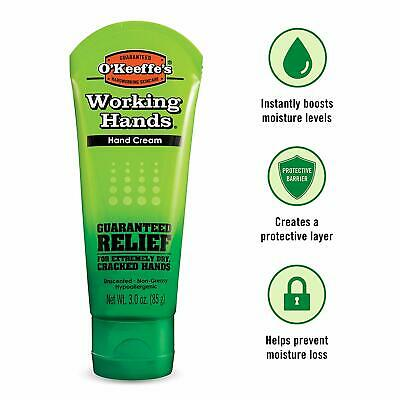 O'Keeffe's Working Hands Hand Cream, 3 ounce Tube, (1-, 2-, 3-, 4-, 6-, 12)