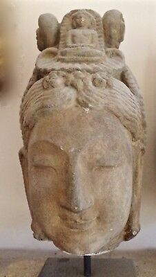 Superb Large Old Chinese Buddha Head