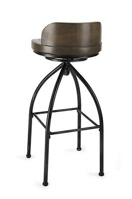 Swivel Bar Stool Set Of 2 Rustic Industrial Adjustable Metal
