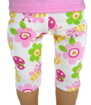 """Fits 18"""" American Girl Doll Clothes Cute Colorful Ladybug Capri's"""