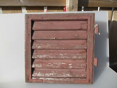 """Vintage French Wooden Window Shutter Wood Old Salvage 19"""""""