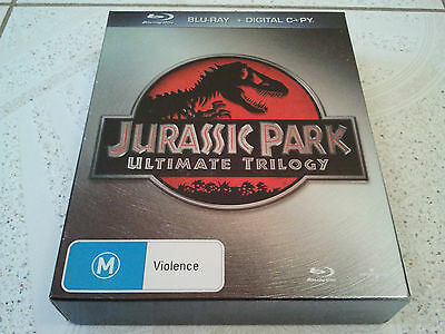 Jurassic Park Ultimate Trilogy Blu Ray Movies Collection Box Set