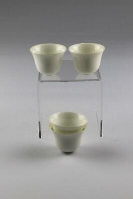Set Of Four Antique Chinese 19thC/20thC Qing Blanc De Chine Porcelain Wine Cups