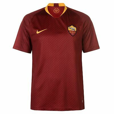 Nike AS Roma Home Jersey 2018 2019 Mens Red/Gold Football Soccer Fan Shirt Top