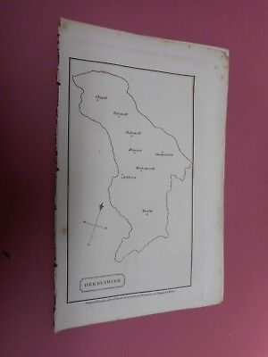 100% Original Derbyshire  Map By Cobbett C1832 Vgc  Scarce
