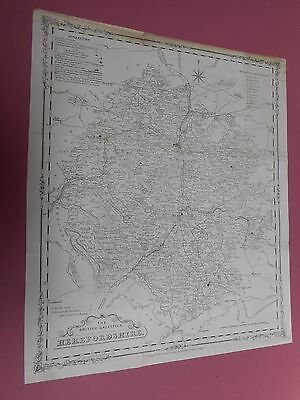 100% Original Large Herefordshire Map By H G Collins By C1863  Railways