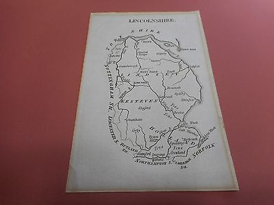 100% Original Lincolnshire  Map By Aikin C1804 Vgc