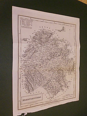 100% Original Herefordshire Map By S Hall  C1831 Vgc  Free Uk Postage