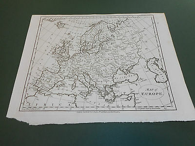 100% Originaleurope  Map By Taylor  C1804 Vgc