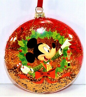 Disney Parks Exclusive 2018 MICKEY'S Very Merry Christmas Party Glass Ornament