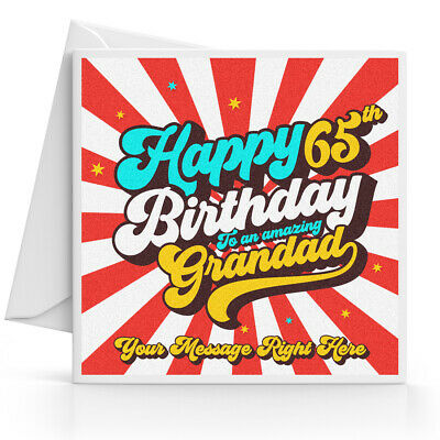 Personalised 65th Birthday Card Male Husband Grandad Uncle Brother Dad Friend
