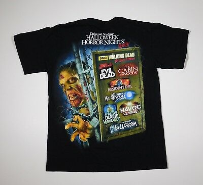 Universal Studios Halloween Horror Nights 2013 T Shirt adult SMALL (S)