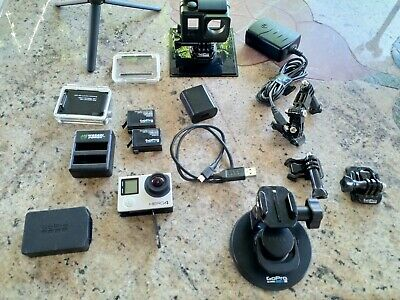 GoPro Hero 4 BLACK Edition 4K Action Camera With MANY ACCESSORIES/EXTRAS